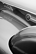 One Photograph Posters - 1941 Packard 1907 Custom Eight One-Eighty LeBaron Sport Brougham Side Emblems Poster by Jill Reger