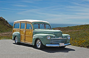 Custom Ford Metal Prints - 1947 Ford Woody Wagon Metal Print by Dave Koontz