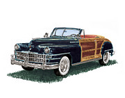Photographs Paintings - 1948 Chrysler Town and Country by Jack Pumphrey