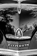 1948 Photos - 1948 Plymouth Special Deluxe Club Coupe Front Emblem by Jill Reger