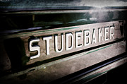 1948 Photos - 1948 Studebaker M15A Pickup Truck Tail Gate Emblem by Jill Reger