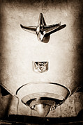 1951 Framed Prints - 1951 Studebaker Commander Hood Ornament Framed Print by Jill Reger