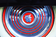 Monterey Framed Prints - 1953 Mercury Monterey Wheel Emblem Framed Print by Jill Reger
