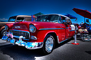 Custom Grill Posters - 1955 Chevrolet Bel Air Poster by David Patterson