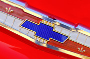 1955 Chevrolet Photos - 1955 Chevrolet Belair Nomad Emblem by Jill Reger