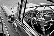 Steering Framed Prints - 1955 Chevrolet Belair Steering Wheel Framed Print by Jill Reger