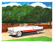 Coming Out Prints - 1955 Packard Caribbean Convertible Print by Jack Pumphrey
