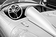 Black And White Image Framed Prints - 1955 Porsche Spyder Framed Print by Jill Reger