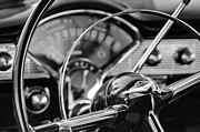 Steering Framed Prints - 1956 Chevrolet Belair Steering Wheel Framed Print by Jill Reger