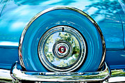 Old Car Posters - 1956 Ford Thunderbird Spare Tire Poster by Jill Reger