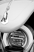 Black And White Photographs Art - 1956 Volkswagen VW Bug Tool Kit by Jill Reger