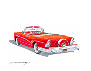 All-star Art Originals - 1957 Buick Special Convertible by Jack Pumphrey