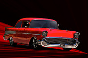 Chevy Coupe Prints - 1957 Chevrolet Coupe Print by Dave Koontz