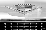 Caddy Framed Prints - 1958 Cadillac Eldorado Biarritz Convertible Emblem Framed Print by Jill Reger
