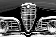 Black And White Photos Photos - 1959 Alfa Romeo Giulietta Sprint Grille by Jill Reger