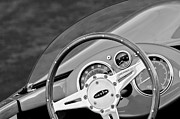 Steering Framed Prints - 1959 Devin SS Steering Wheel Framed Print by Jill Reger