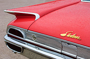 1960 Posters - 1960 Ford Galaxie Starliner Taillight Emblem Poster by Jill Reger
