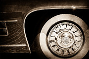 Ghia Prints - 1962 Ghia L6.5 Coupe Wheel Emblem Print by Jill Reger