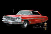 Full Fender Posters - 1964 Ford Galaxie 500 Poster by Jack Pumphrey