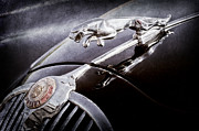 Car Pictures Framed Prints - 1964 Jaguar MK2 Saloon Hood Ornament and Emblem Framed Print by Jill Reger