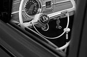 Volkswagen Photos - 1964 Volkswagen VW Steering Wheel by Jill Reger