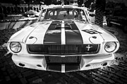 Ale House Posters - 1965 Ford Shelby Mustang BW Poster by Rich Franco