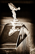 Rolls Royce Framed Prints - 1965 Rolls-Royce Silver Cloud III Continental Coupe Hood Ornament Framed Print by Jill Reger