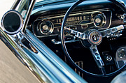 Prototype Prints - 1965 Shelby prototype Ford Mustang Steering Wheel Emblem Print by Jill Reger