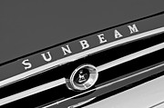 Tiger Photography Prints - 1965 Sunbeam Tiger Grille Emblem Print by Jill Reger