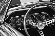 Ford Muscle Car Posters - 1966 Ford Mustang Cobra Steering Wheel Poster by Jill Reger