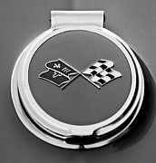 Gas Cap Prints - 1967 Chevrolet Corvette Gas Cap Emblem Print by Jill Reger