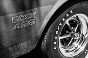 1969 Posters - 1969 Ford Mustang Boss 429 Sportsroof Side Emblem - Wheel Poster by Jill Reger