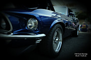 Muscle Car Prints - 1969 Ford Mustang Mach 1 Fastback Print by Paul Ward