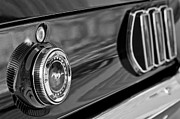 Black And White Photos Photos - 1969 Ford Mustang Taillights by Jill Reger