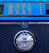 1970 Photos - 1970 Ford Mustang Gt Mach 1 Emblem by Jill Reger