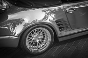 1984 Photo Framed Prints - 1984 Porsche 911 Carrera Cabriolet Slant Nose BW Framed Print by Rich Franco
