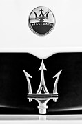 Badge Prints - 2005 Maserati MC12 Hood Emblem Print by Jill Reger