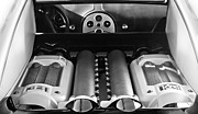 2008 Photos - 2008 Bugatti Veyron Engine by Jill Reger