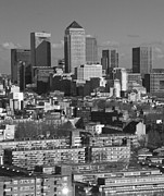 Canary Metal Prints - 2013 Docklands London Skyline Metal Print by David French