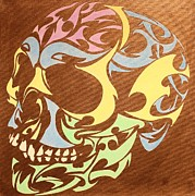 Glow In The Dark Paintings - 3D glow in the  dark skull by Twilight Vision
