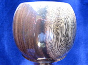 Wine Sculptures - 481 - Wooden Goblet with Segmented Base by Jack Lewis
