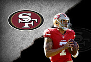 Colin Kaepernick Framed Prints - 49ers Colin Kaepernick Framed Print by Joe Hamilton