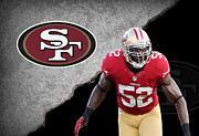 49ers Photo Posters - 49ers Patrick Willis Poster by Joe Hamilton