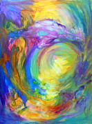 Chakra Paintings - 5th Chakra - Throat by Madalyn Kennedy