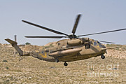 Featured Acrylic Prints - A Ch-53 Yasur 2000 Of The Israeli Air Acrylic Print by Ofer Zidon