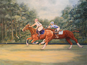 Wooded Originals - A Polo Match by Roena King