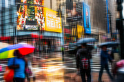 Hannes Cmarits Metal Prints - A Rainy Day In New York Metal Print by Hannes Cmarits