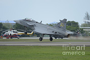 Featured Metal Prints - A Saab Jas 39 Gripen C Of The Royal Metal Print by Remo Guidi