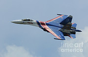 Featured Metal Prints - A Sukhoi Su-27 Flanker Of The Russian Metal Print by Remo Guidi