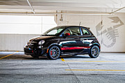 Fiat 500 Framed Prints - Abarth 3 Framed Print by J Pruett